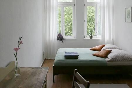 Helles Zimmer mit Blick ins Grüne - Leipzig - Huoneisto