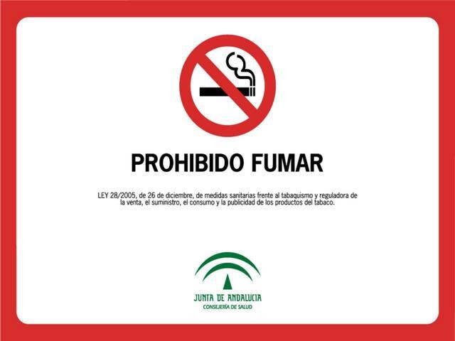 PROHIBIDO FUMAR PLANTA NOBLE.