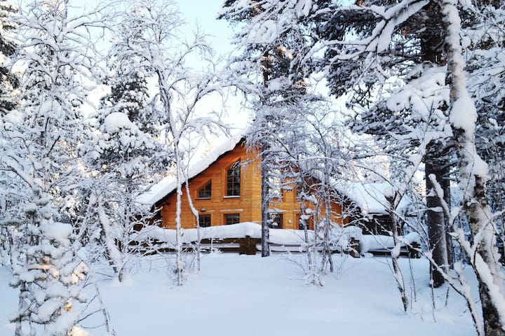 Luxury cabin in the wilderness of Lapland