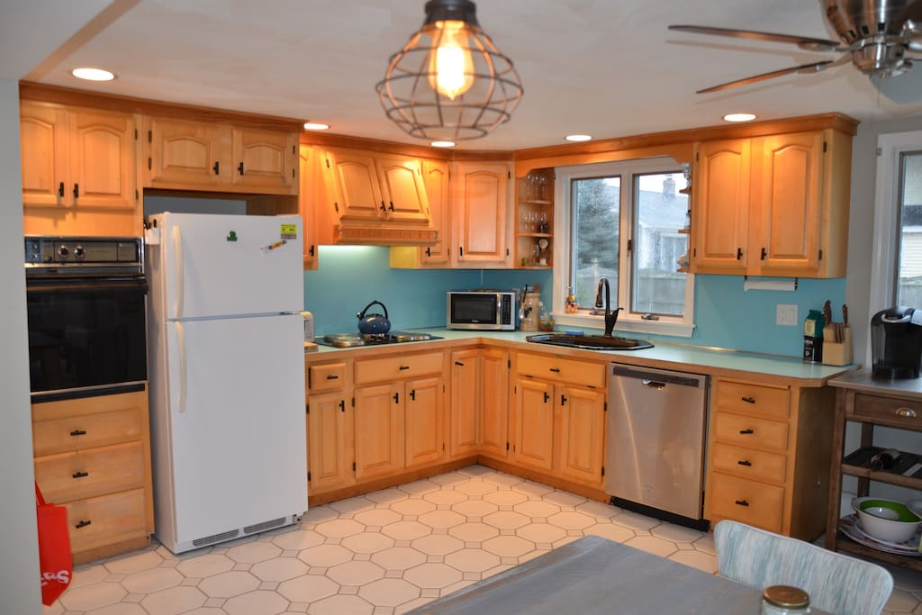 spacious and bright kitchen, perfect for family meals