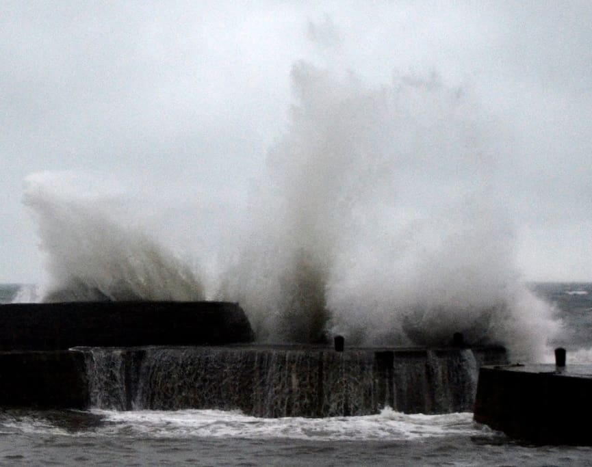 The harbour beside our house on a stormy day.....Wow.