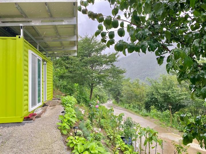 [가오픈] 영이네 민박 '연두방', 한적한 시골 마을의 숲속 별장