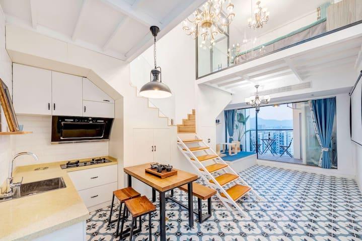 古堰画乡  (江泰广场)吾岸倾城 复古美式LOft公寓