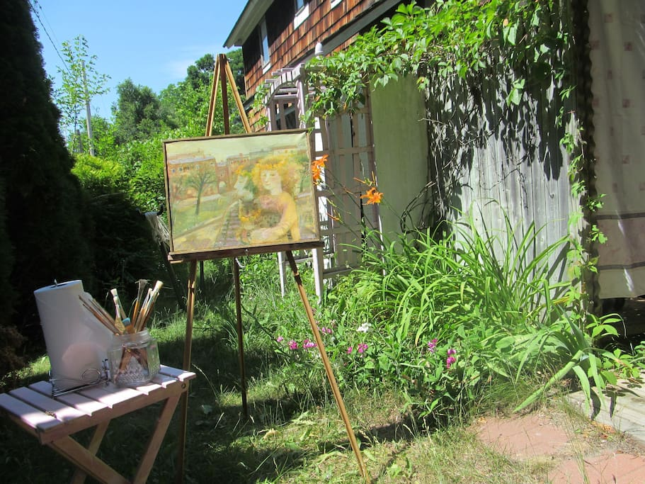 Scenic vistas all over the property to inspire artists.