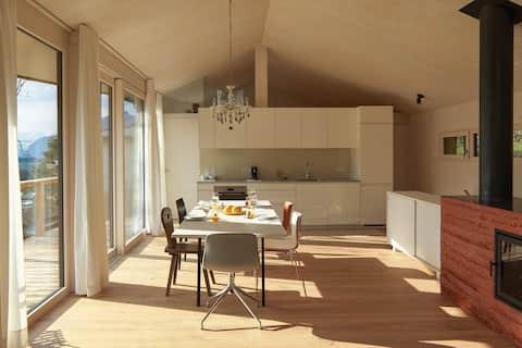 Cidadela - Designer casa de sonho de madeira no campo