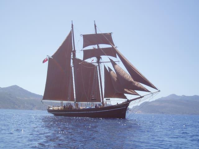 Topsail Schooner + water sports in Turkey/Greece