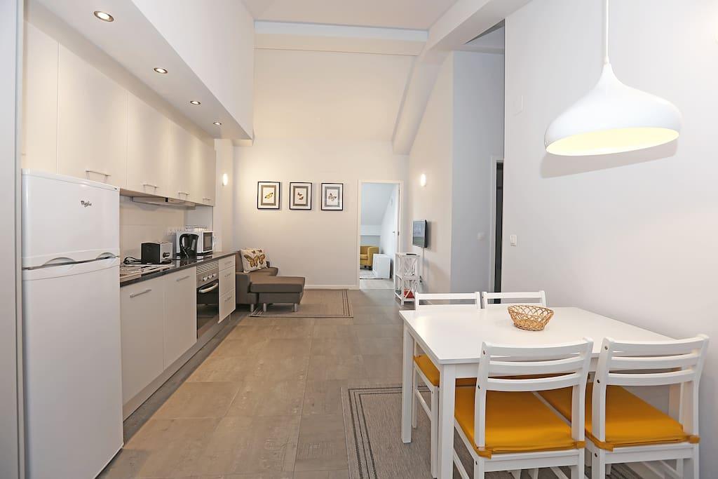 Kitchenette e Sala de estar