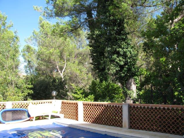 chambre dans villa avec piscine
