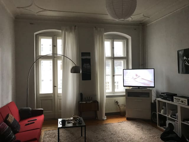 Artsy room in traditional old building apartment