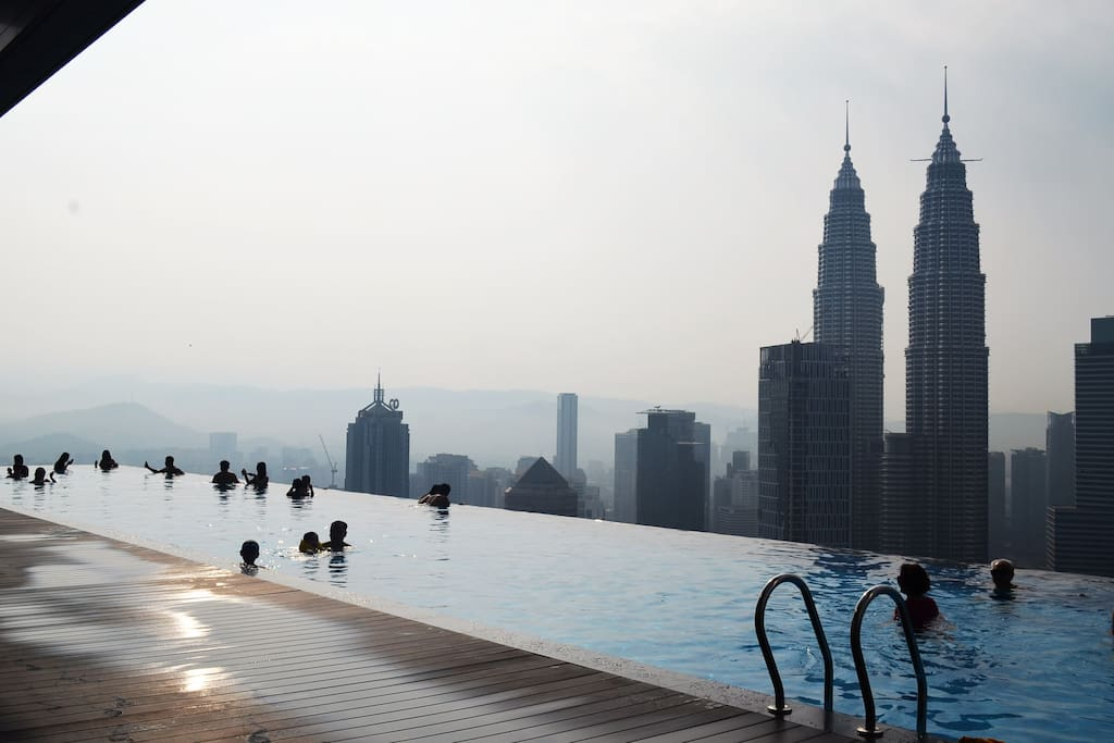 Day time view of Petronas Twin Towers