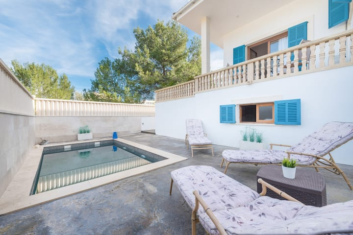 ESPARRALL - Cosy villa with private pool and near the beach Free WiFi