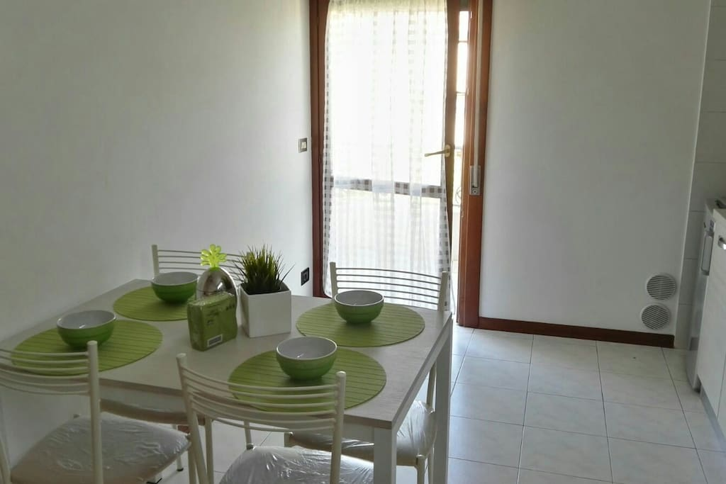 Dining table and balcony