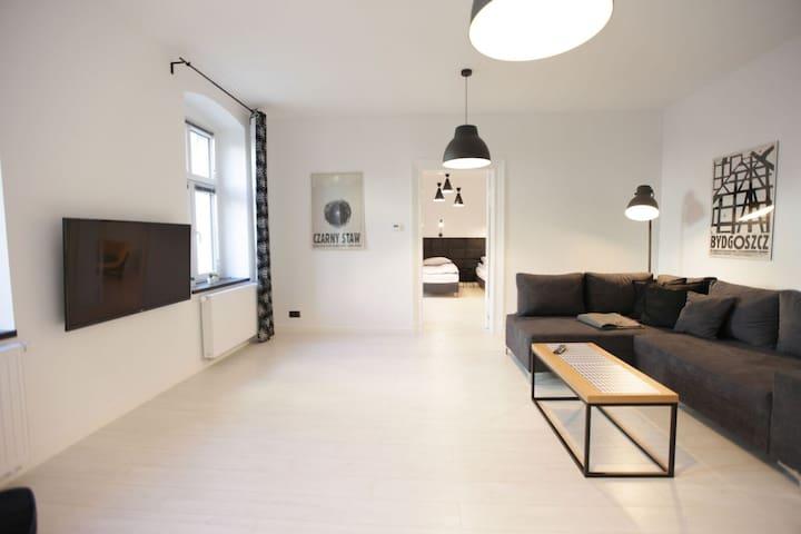 Pokój dzienny - duży, wygodny, dobrze urządzony.