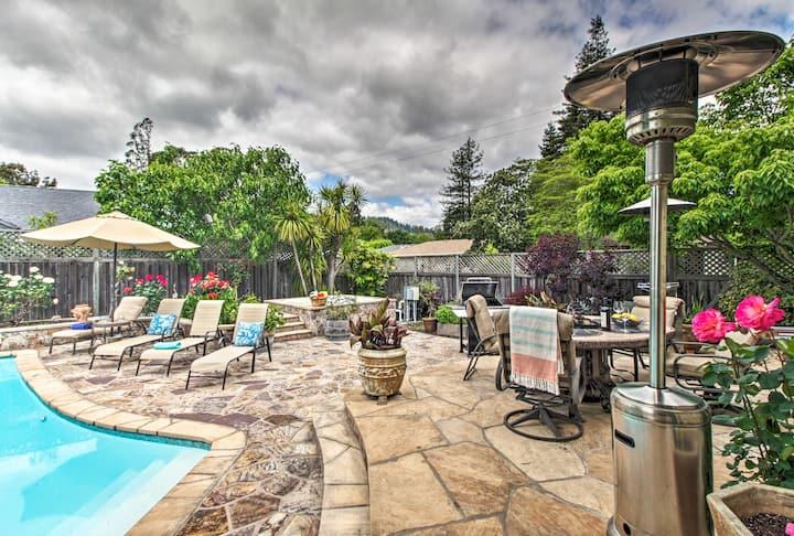 Santa Rosa Poolside Rose Garden - HEATED POOL