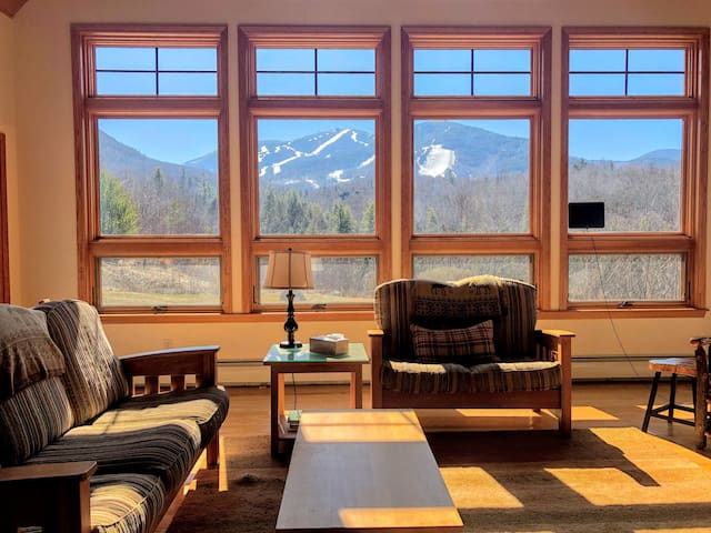 54POV: Stunning home at the base of Cannon Mountain/Franconia Notch! Beautiful Patio with fire pit, gorgeous fireplace, pool table, foosball!