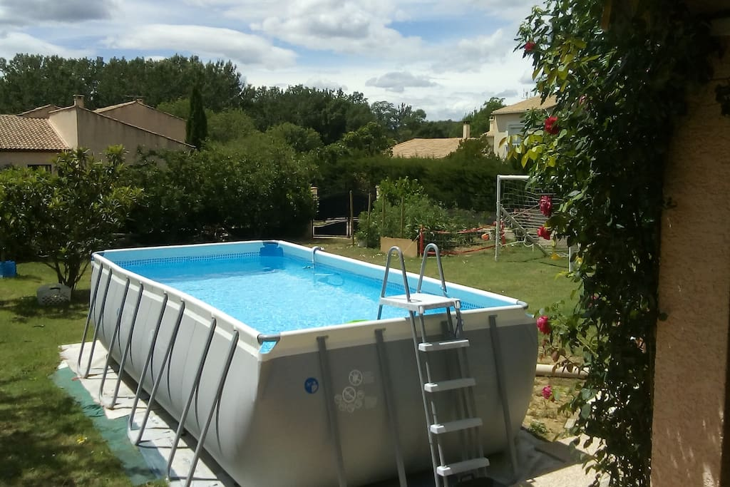 Piscine accessible en été