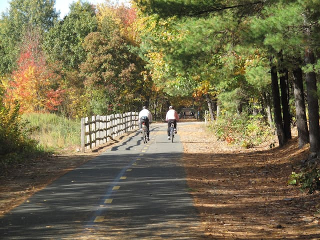 """80-mile long scenic paved  """"Rails-to-Trails"""" trail is within walking distance of house"""
