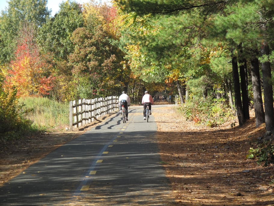 80-mile long scenic paved trail within walking distance of house