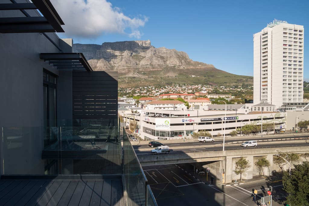 Magnificent Table Mountain View from Apartment balcony