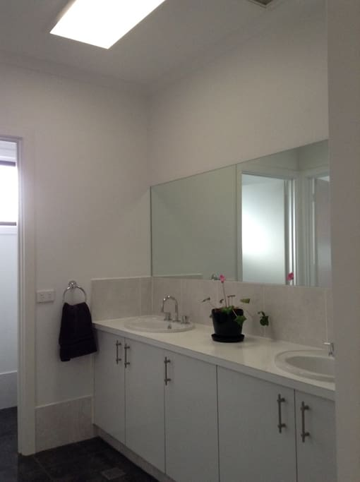 Double vanity in Guest Bathroom