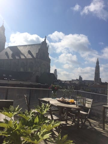 Prachtige duplex penthouse in historisch centrum - Anvers - Appartement