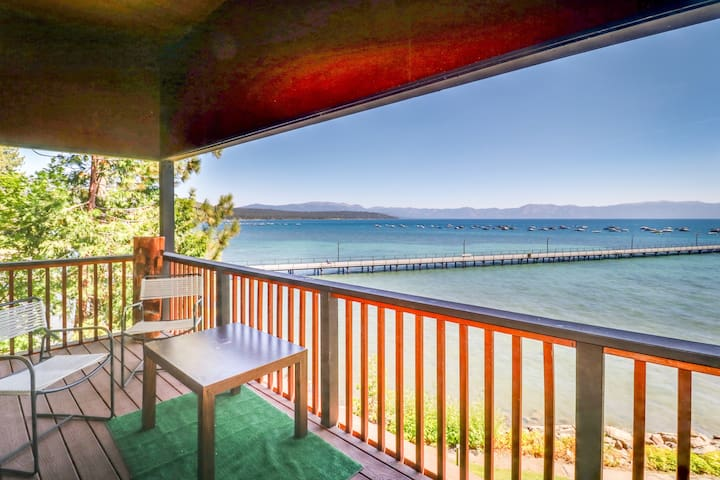 Lakefront condo with views, lake access, shared pool, and tennis!