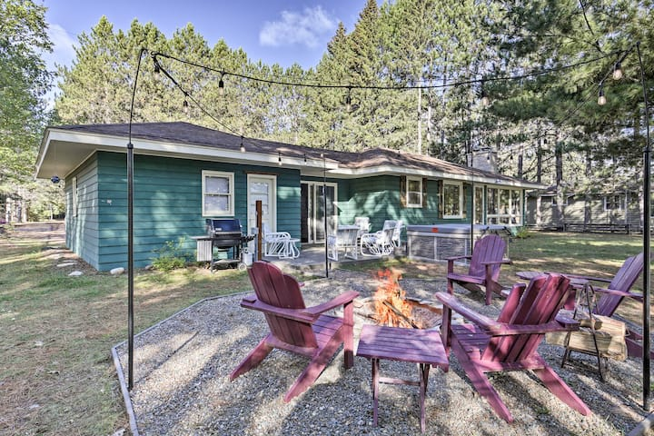 Eagle River Waterfront Home w/Dock & Fire Pit