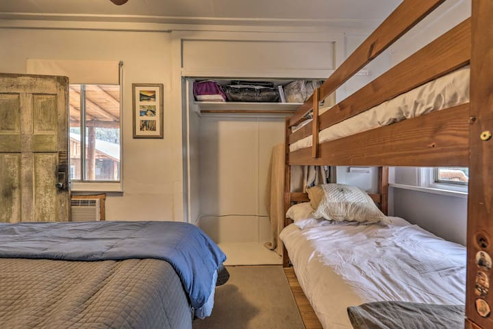 Two people will find comfortable sleeping accommodations on the bunk bed!