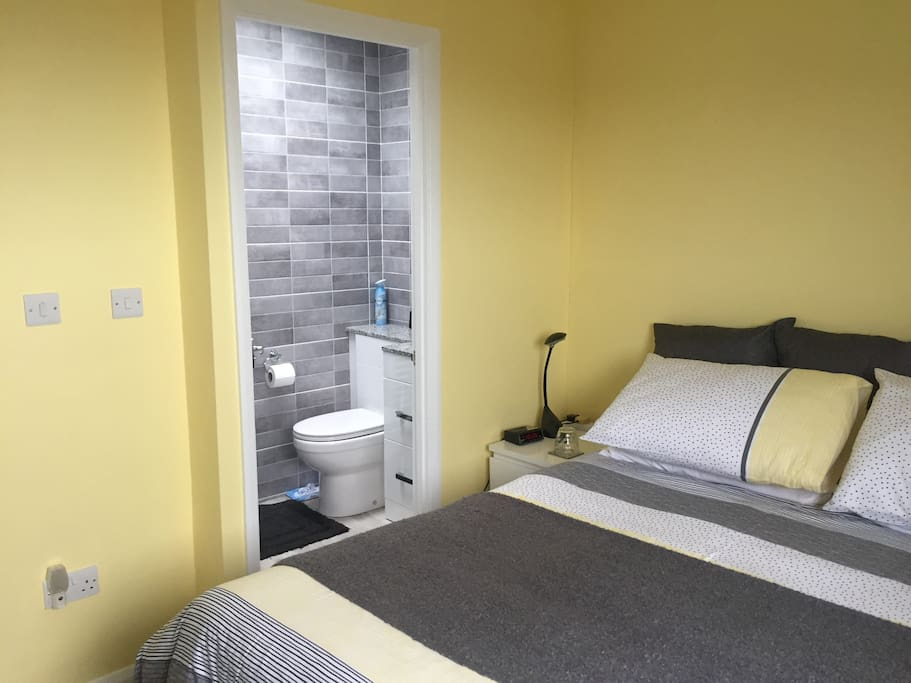 Newly-decorated guest room