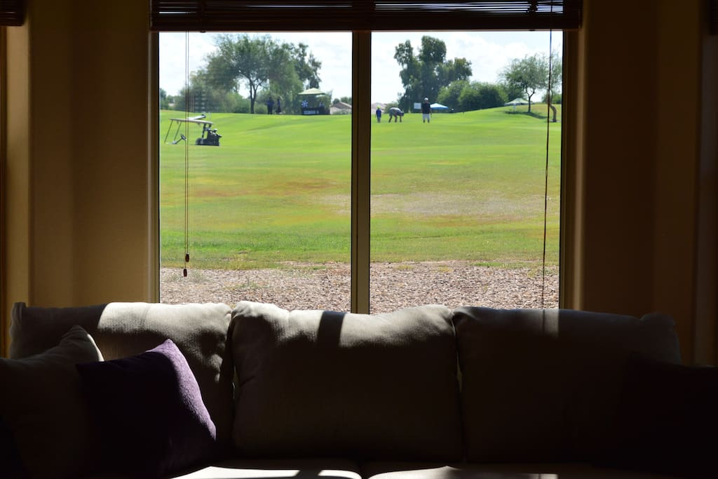 Your Golf Course view from Family room.