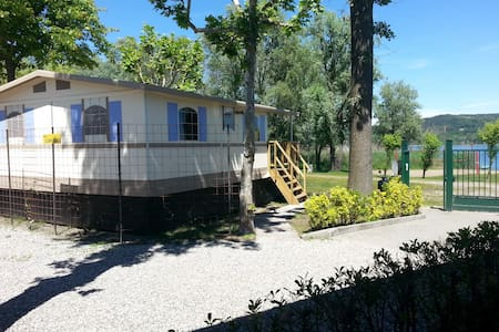 Lodgetent/cottage direct aan LAGO MAGGIORE Nr 102 - Dormelletto - Chalet