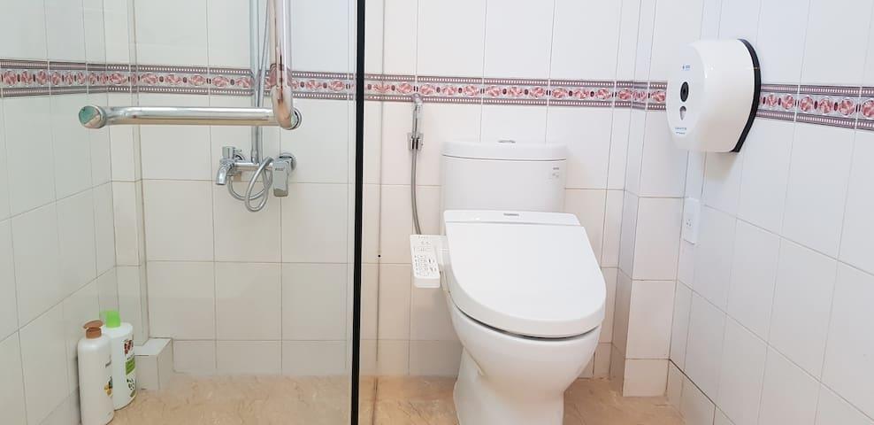 Relax with Japanese style toilet (washlet)