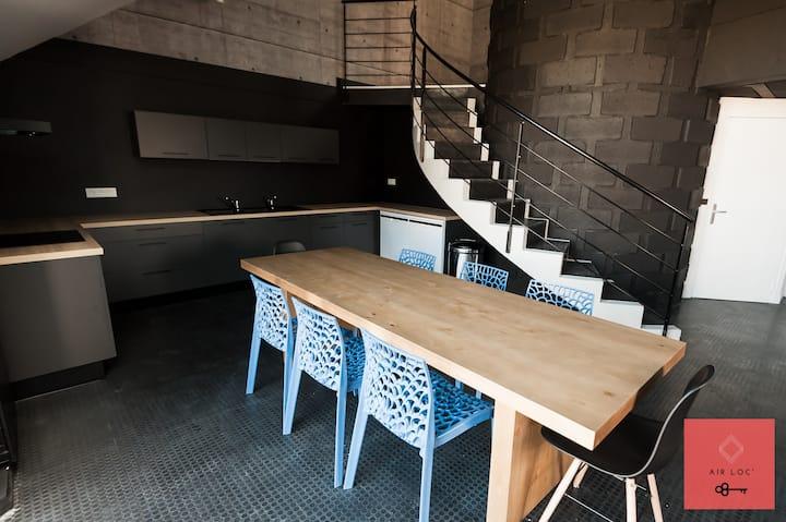 Chambre dans confortable Coloc - Style industriel