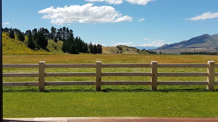 Expansive rural views from the deck