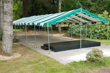 80X20' Tent with stage - 12' ceiling