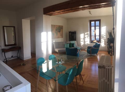In a charming 1900 built house, downtown Geneva