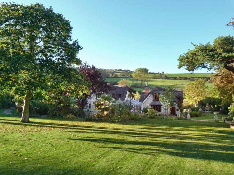 View of Dunnose Magna from the garden