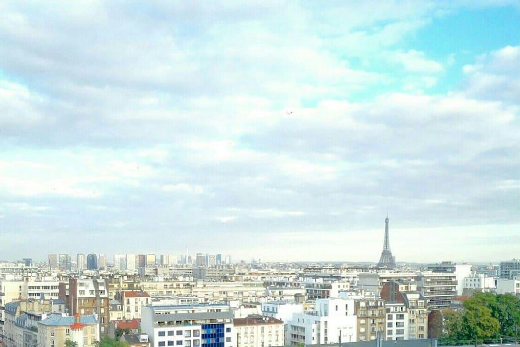 Vue sur Paris en journée