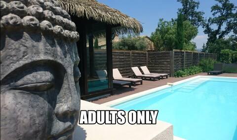 Vila BALI, kelas. 4 *, dewasa sahaja, wifi, AC, kolam renang