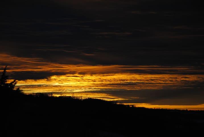 Quand le ciel se pare d'or...