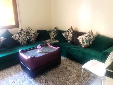 Apartamento de una habitación en Khenifra, con magnificas vistas a las montañas, jardín cerrado y WiFi - a 220 km de la playa
