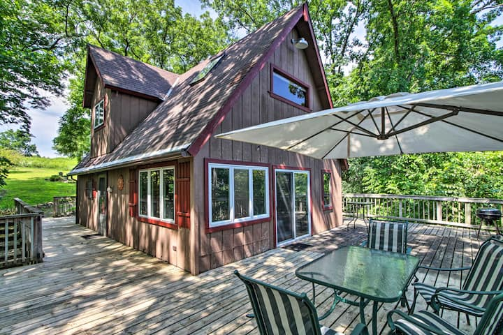 NEW! Secluded A-Frame Hideaway w/ Wraparound Deck
