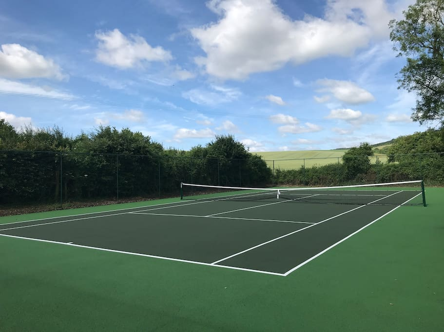 Brand new tennis court!