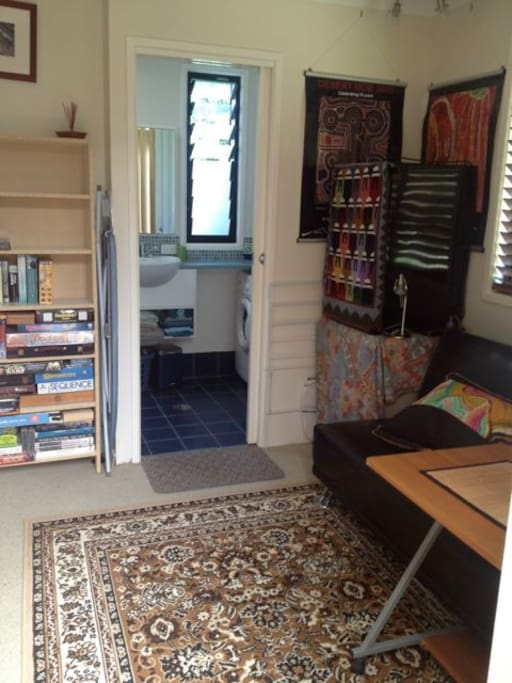 Private sunroom opens to the ensuite bathroom, plenty of books, DVDs and games for you to use during your stay