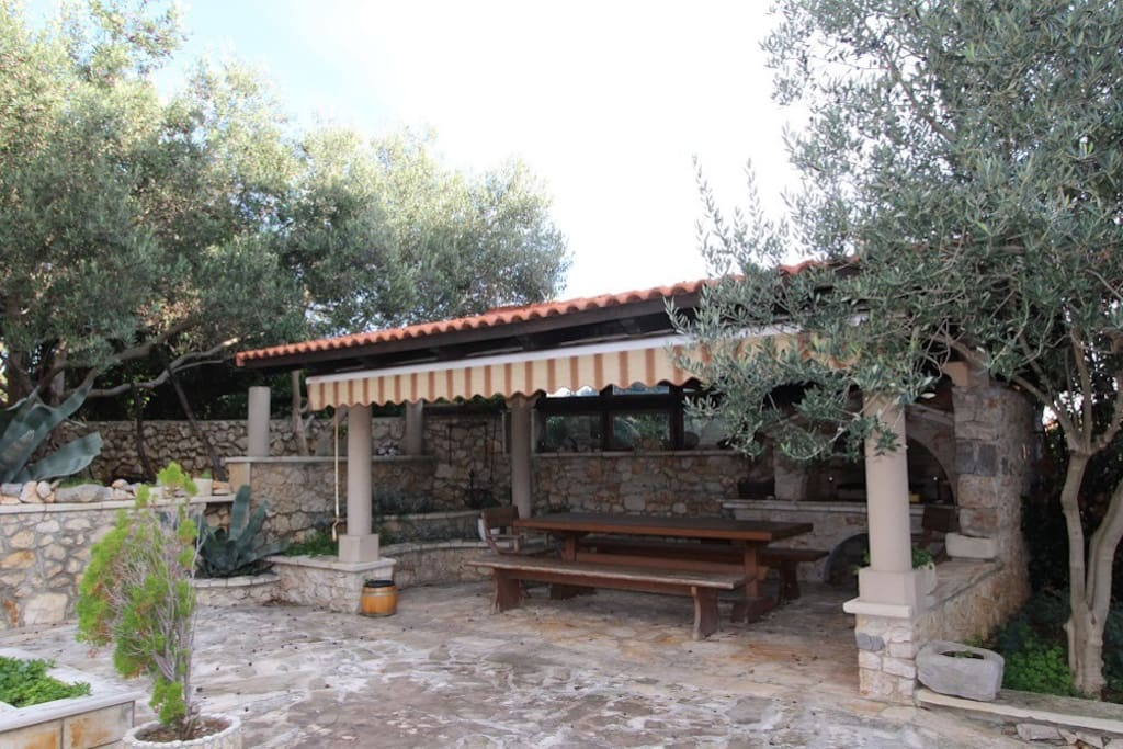 Outdoor grill and barbeque area