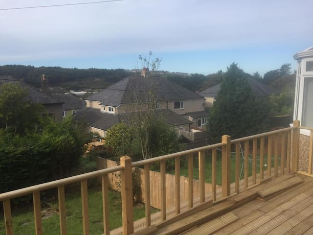 View of Whitehaven from decked area