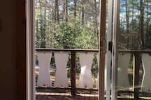 Sliding glass door to front deck