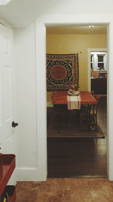 Shared dining room on the ground floor