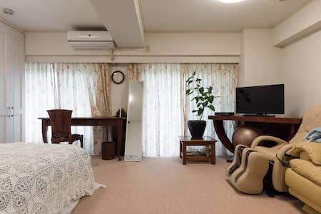 WIFI有!出張に!観光に最適!5 mins Zushi 2 BED 1LDK 6名室内綺麗 - 逗子市