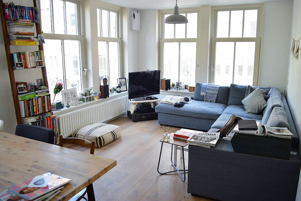 Very bright apartment with many windows
